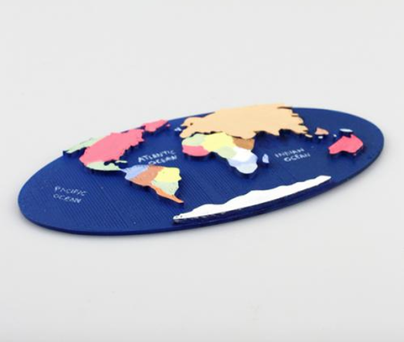 Dremel Education 3D printed world map