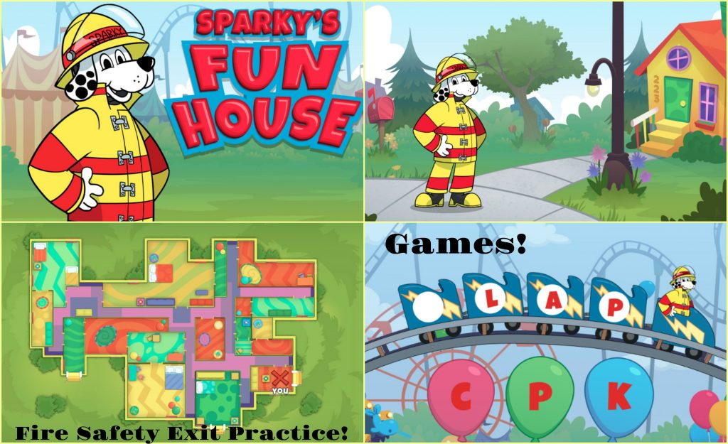 Sparky's Fun House Fire Safety App