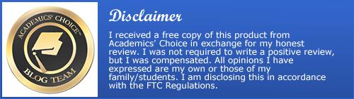 Academics' Choice disclaimer