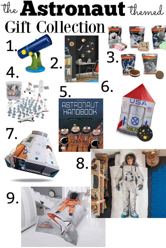 Astronaut Themed space gift ideas