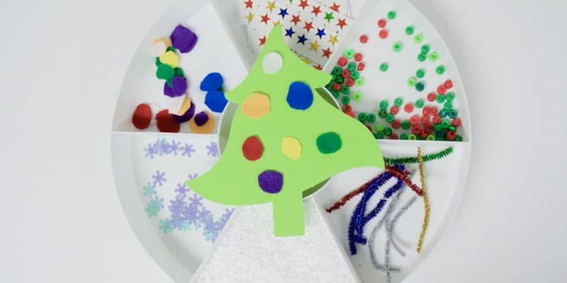Invitation to Decorate a Christmas Tree Activity for Kids
