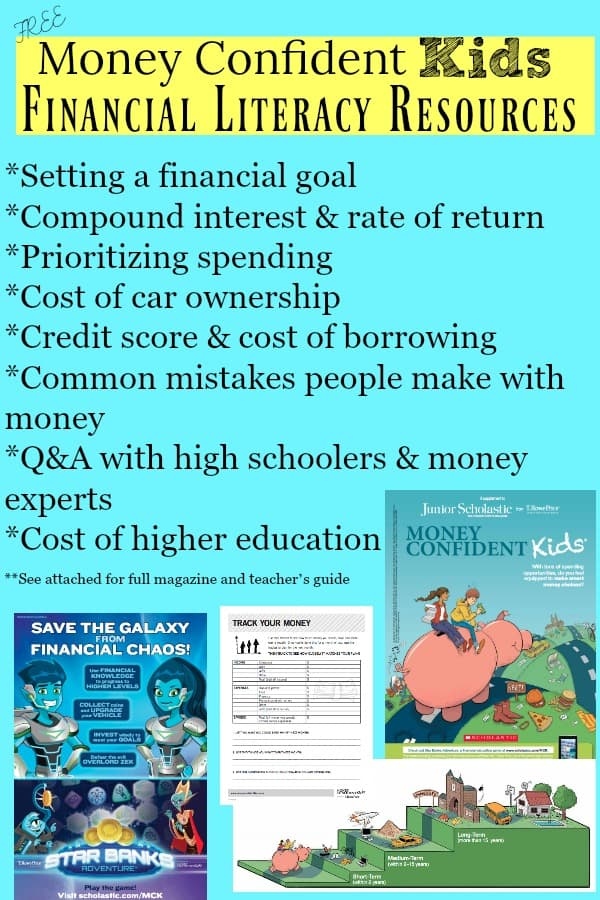 Free Money Confident Kids Financial Literacy Resources