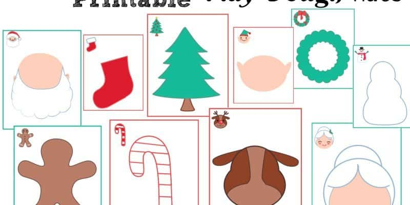 Counting Down to Christmas Free Printable Play Dough Sensory Mats