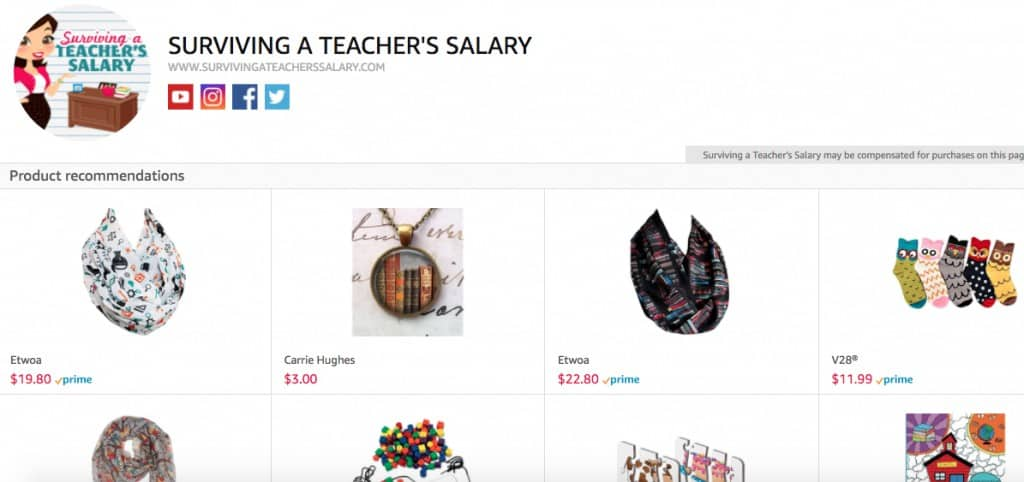 Teacher's Amazon Shop