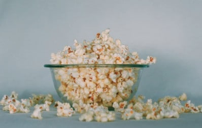 bowl of popcorn for Nut Free School Lunches, Snacks Classroom Party