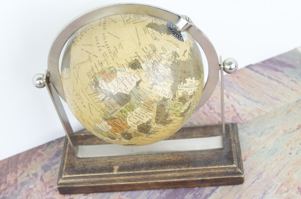 Tips for Re-purposing Globes DIY Button Globe