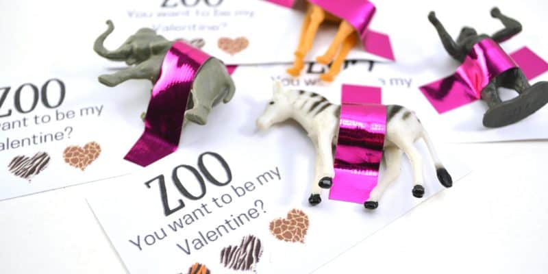 """Zoo You Want to be My Valentine?"" FREE Printable Valentine's Day Card"