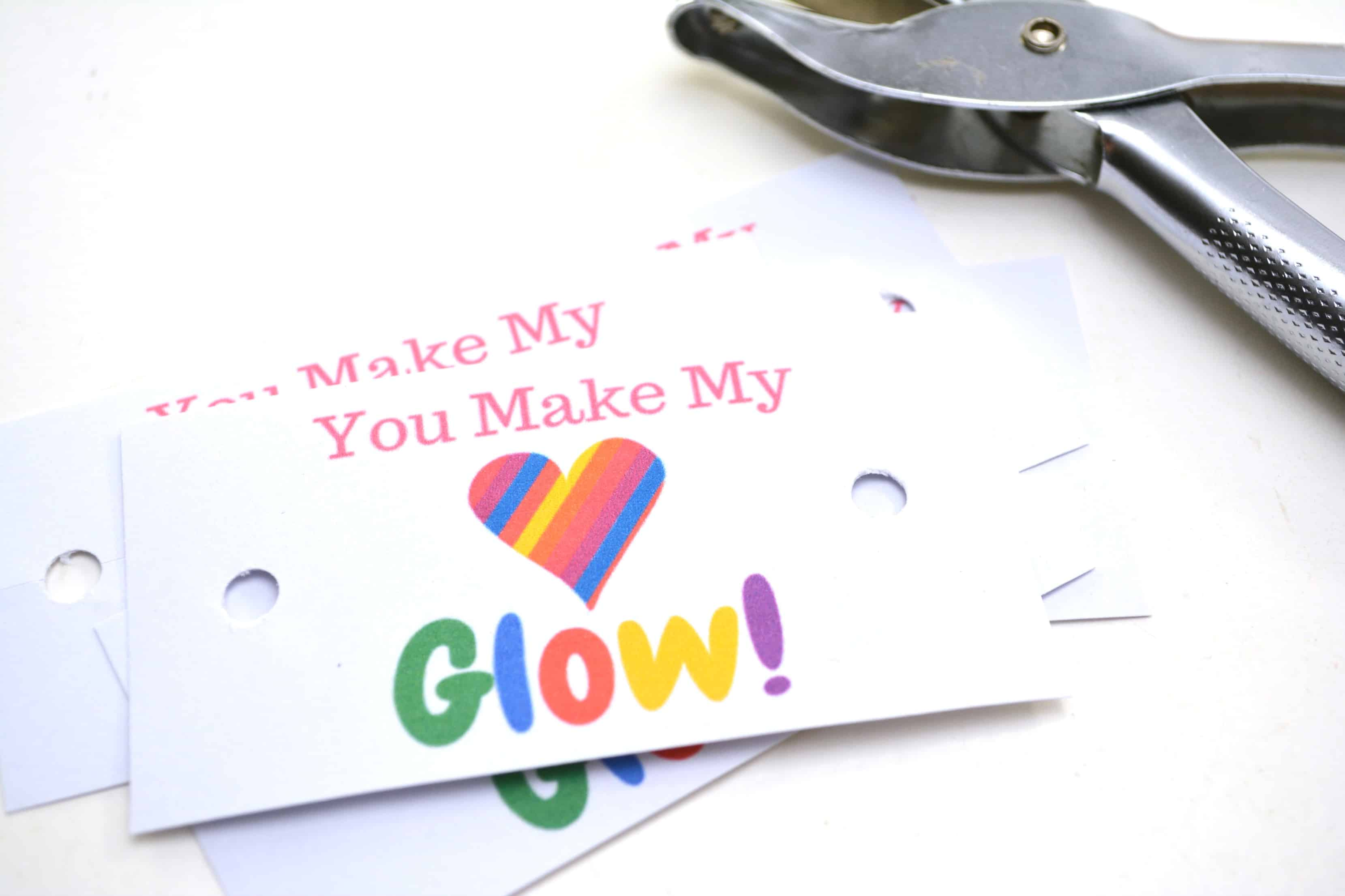"You Make My Heart Glow"" FREE Printable Valentine's Day Cards"
