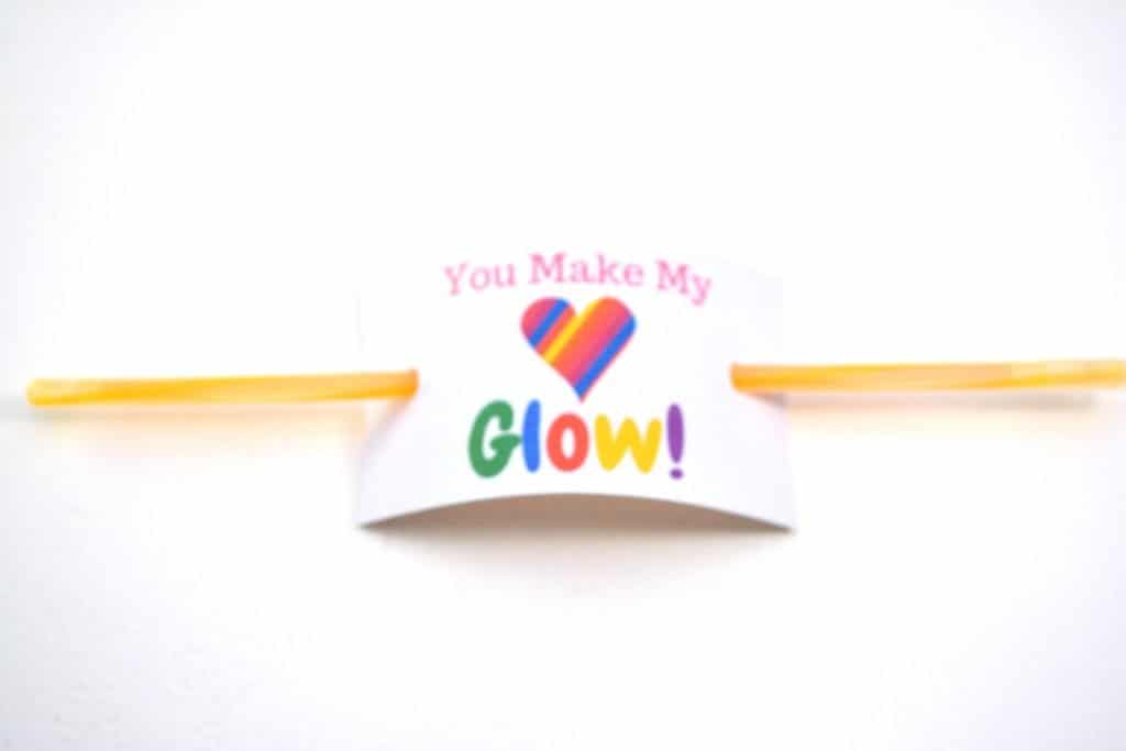 """You Make My Heart Glow"" FREE Printable Valentine's Day Cards"