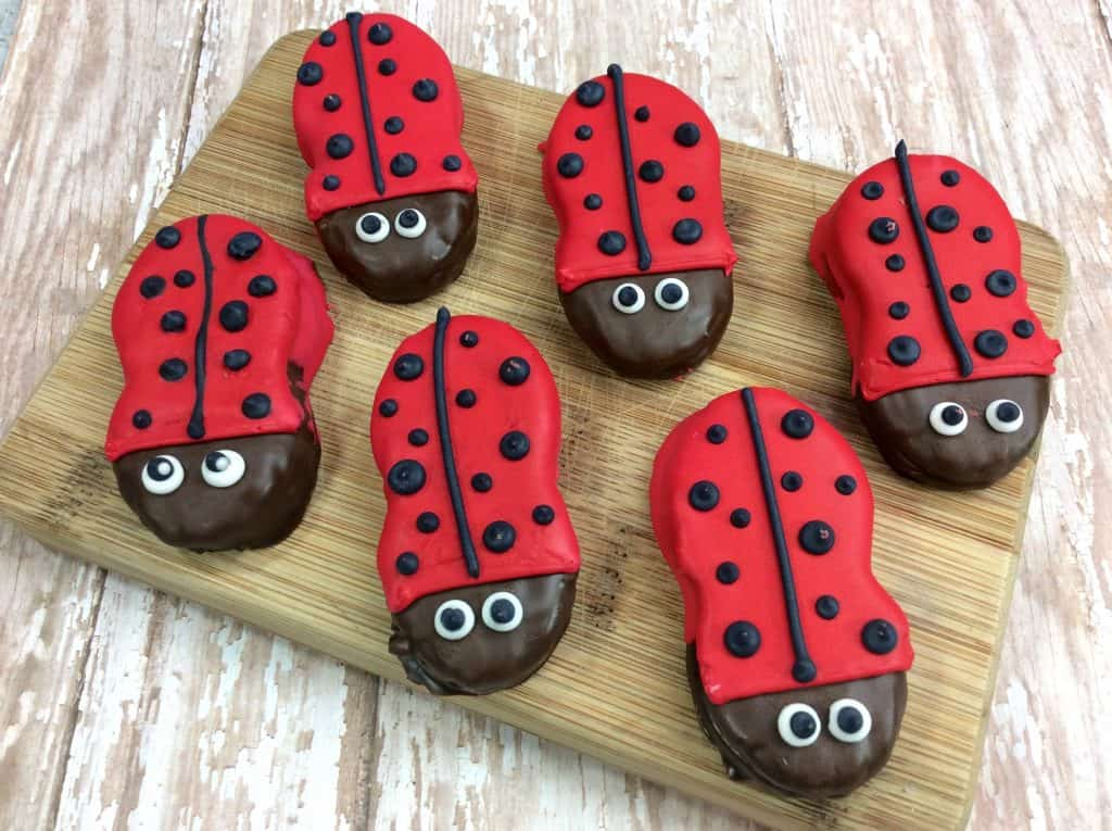 6 ladybug cookies for kids