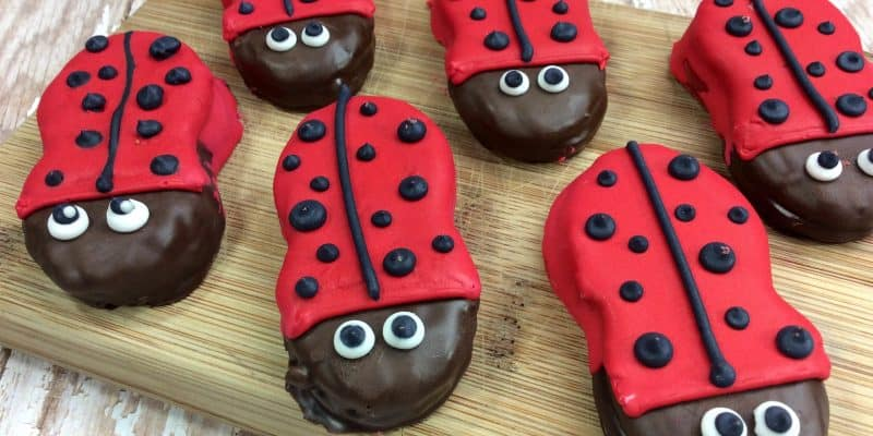 Lady Bug Nutter Butters - Fun Spring Party Recipe for Kids