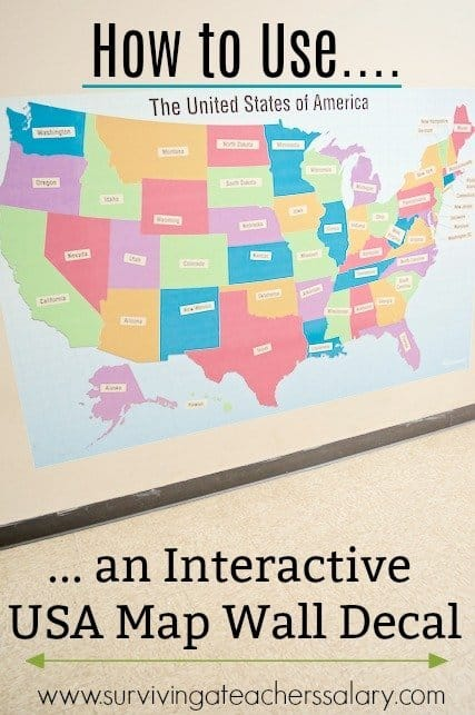 Ways to Use an Interactive Fathead USA Map Decal for Learning