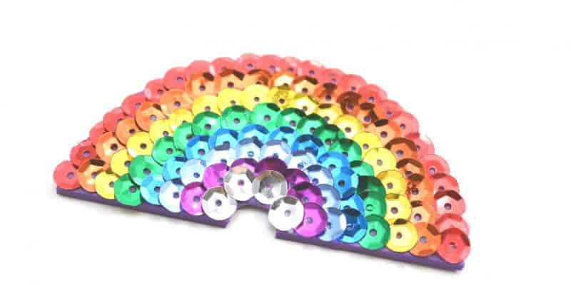 How to Make Your Own Rainbow Sequin Hair Clip for Girls