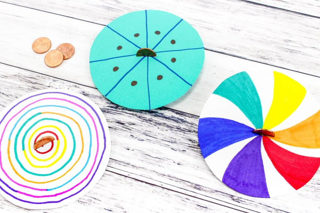 Make Your Own Lucky Penny Spinner Art: Fine Motor Skills Activity