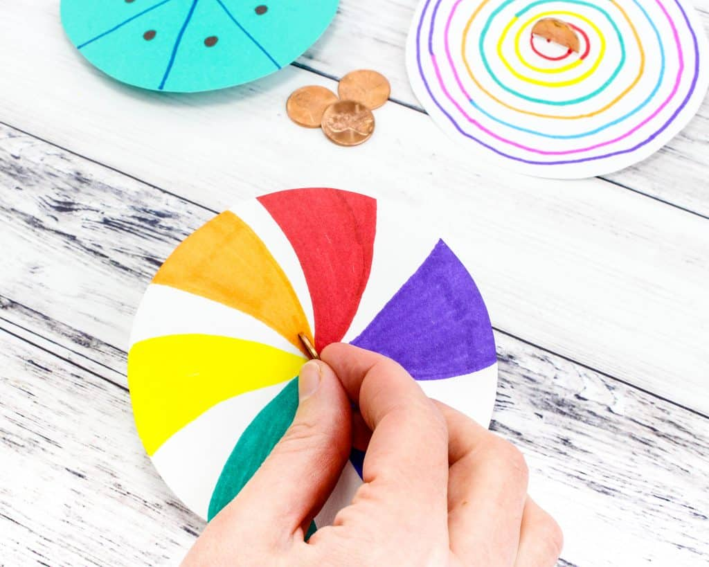 Make Your Own Lucky Penny Spinner: Fine Motor Skills Art Activity