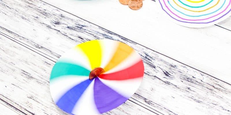 Make Your Own Lucky Penny Spinner: Fine Motor Skills Art Activity