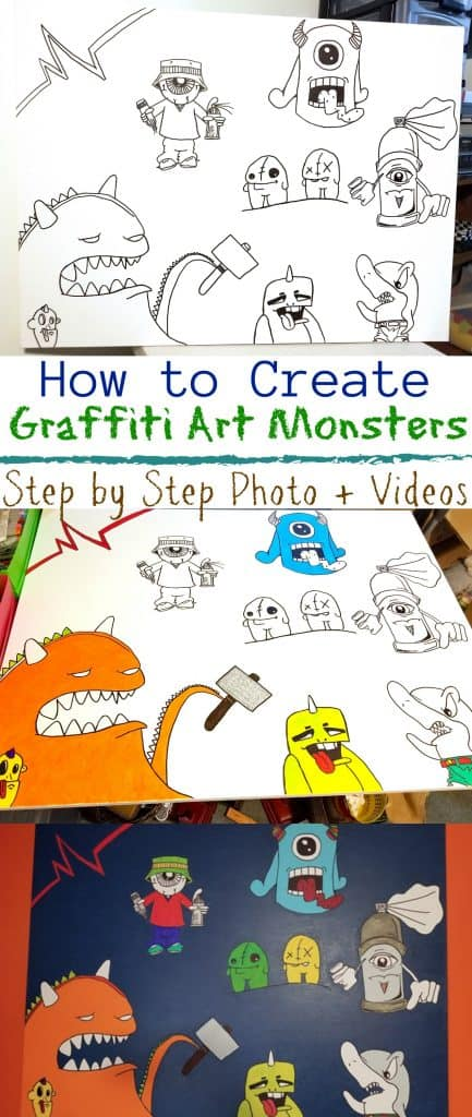 How to Create Graffiti Art Monsters Tutorial