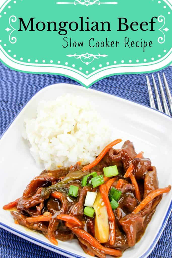 Slow Cooker Recipe Mongolian Beef Dinner - Quick Meal for After School