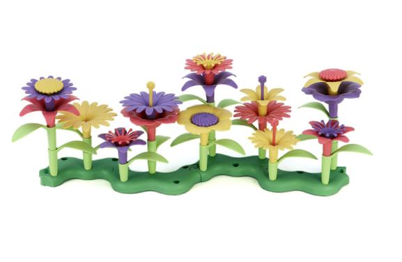 Green Toys Flower Stacking Toys for Preschool Fine Motor Skills Activity