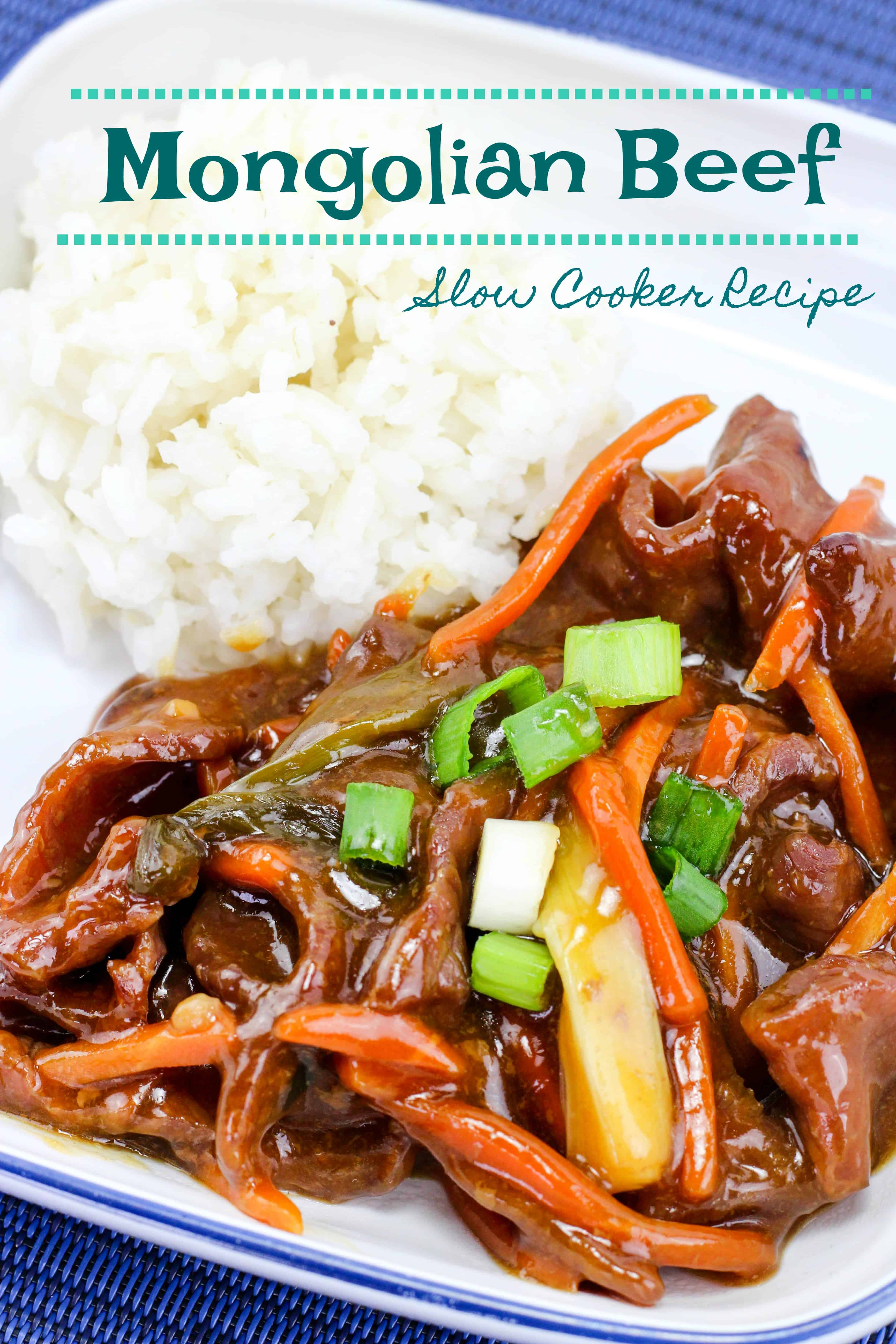 Slow Cooker Recipe: Mongolian Beef Dinner - Quick Meal for After School