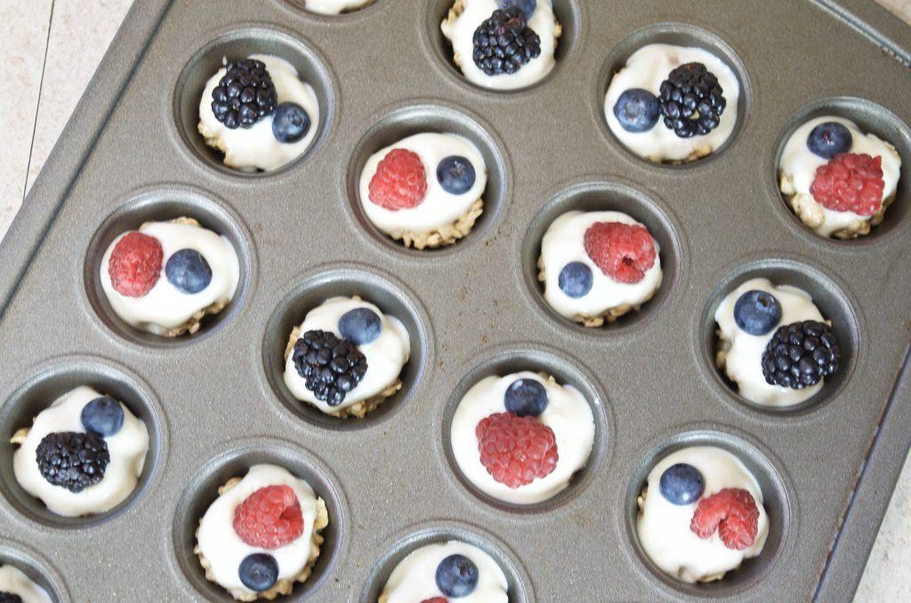 After School Snack: Frozen Yogurt Fruit & Granola Cup Recipe
