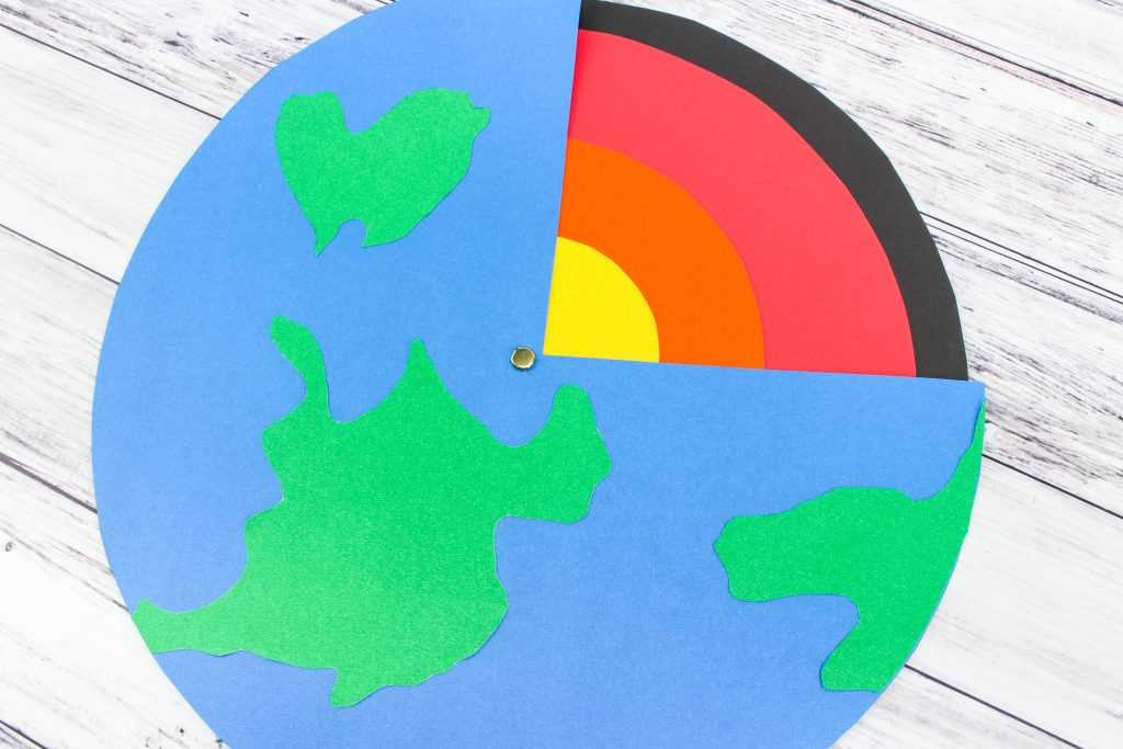 paper science project interactive layers of earth