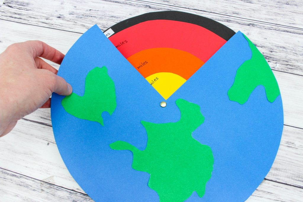 finished paper earth layers interactive activity for science