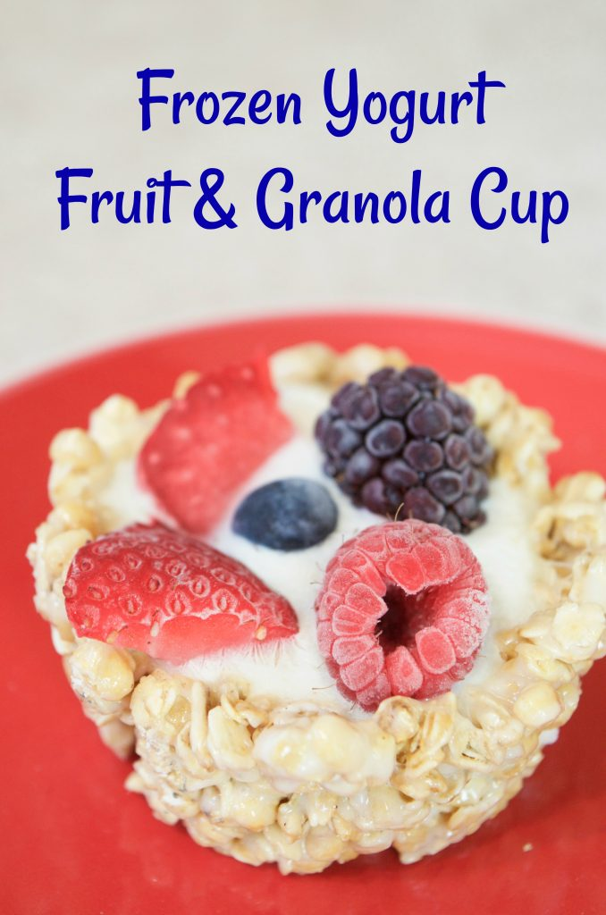 Frozen Yogurt Fruit & Granola Cup Recipe 2