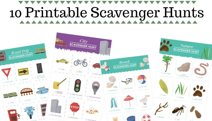 10 Printable Travel Scavenger Hunt Games for Kids