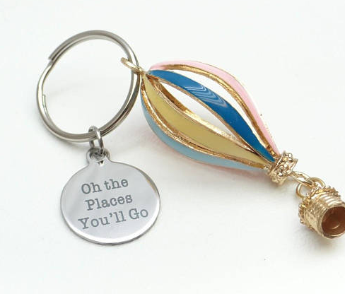 Oh the Places You'll Go Balloon Keychain