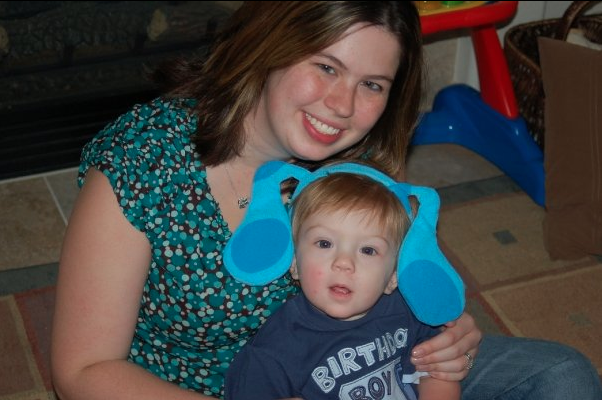my son with autism at his blue's clues birthday party