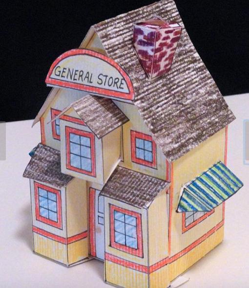 Printable Art kit set - Printable General Store house