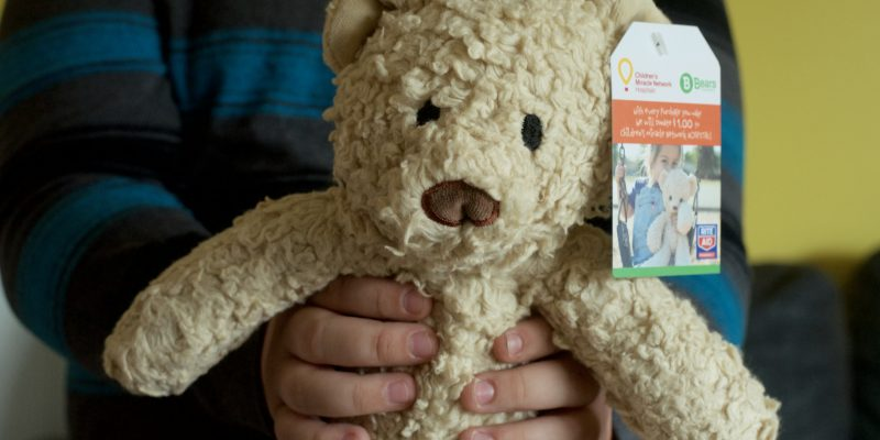 organic children's teddy bear plus