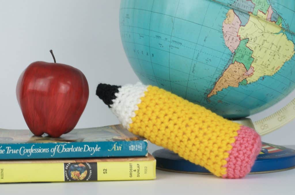 Back to School Pencil Crochet Pattern Plush Toy Reading Buddy