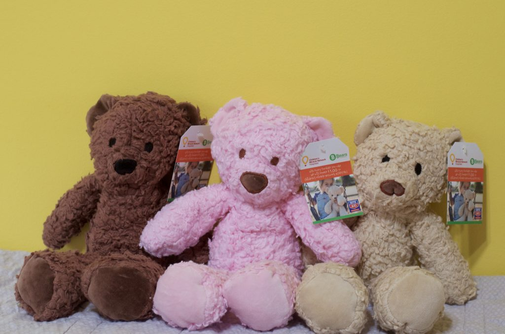 brown, pink and cream teddy bear