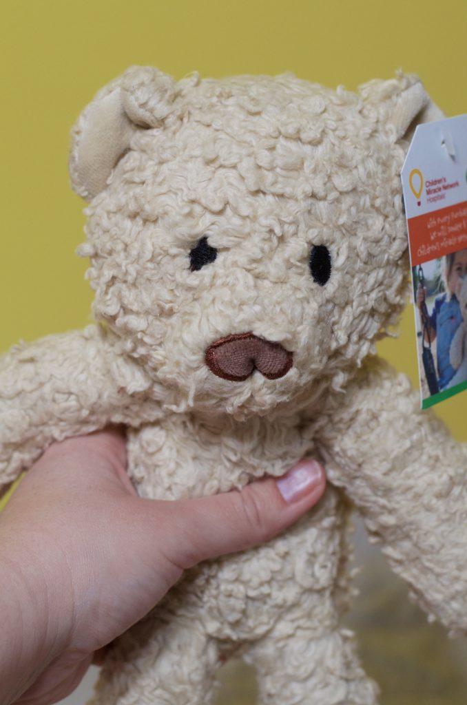 cream teddy bear for children's hospital fundraiser