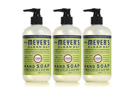 mrs meyers hand soap for the kitchen