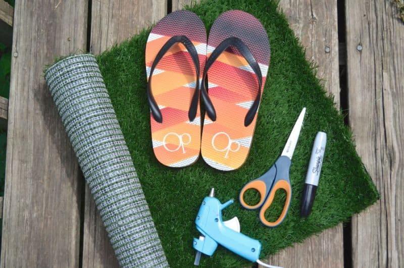 Grass Flip Flops materials Tutorial