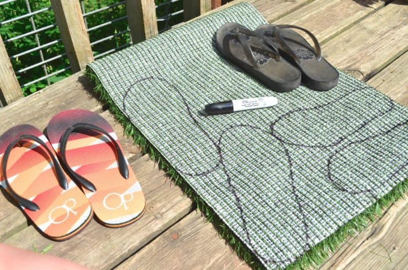3073c34568e0 How to Make Your Own Grass Flip Flops Tutorial - Summer Sensory Activity