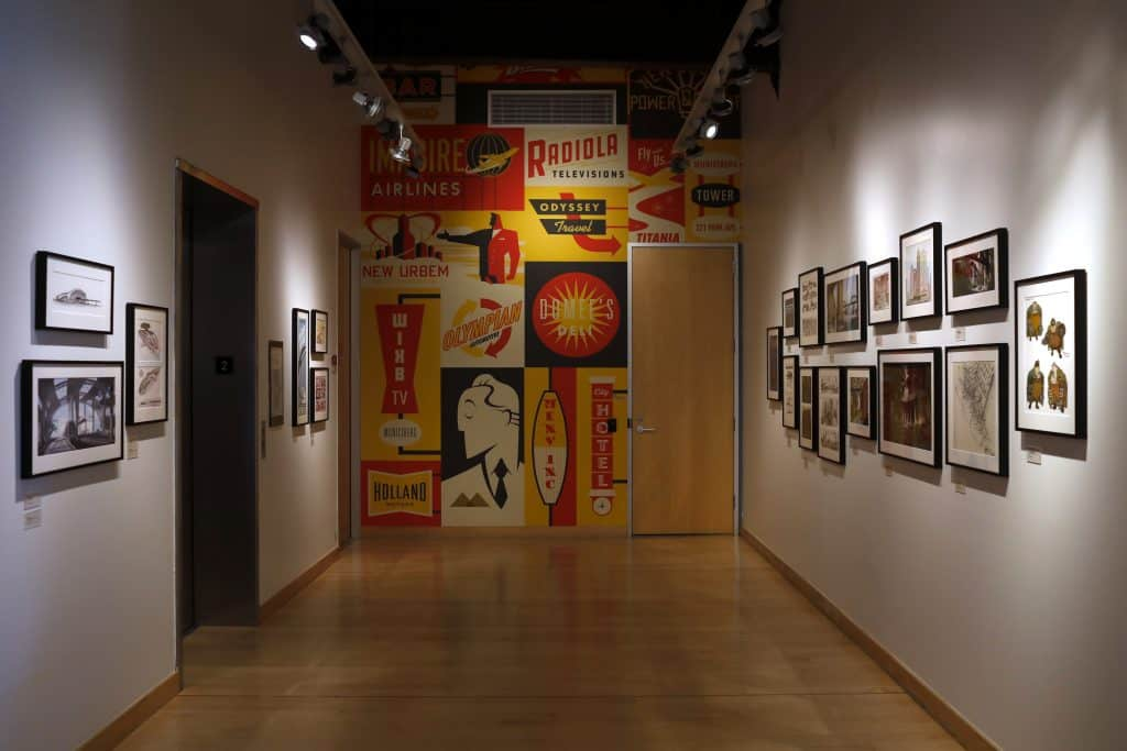 Pixar Studios art hallway