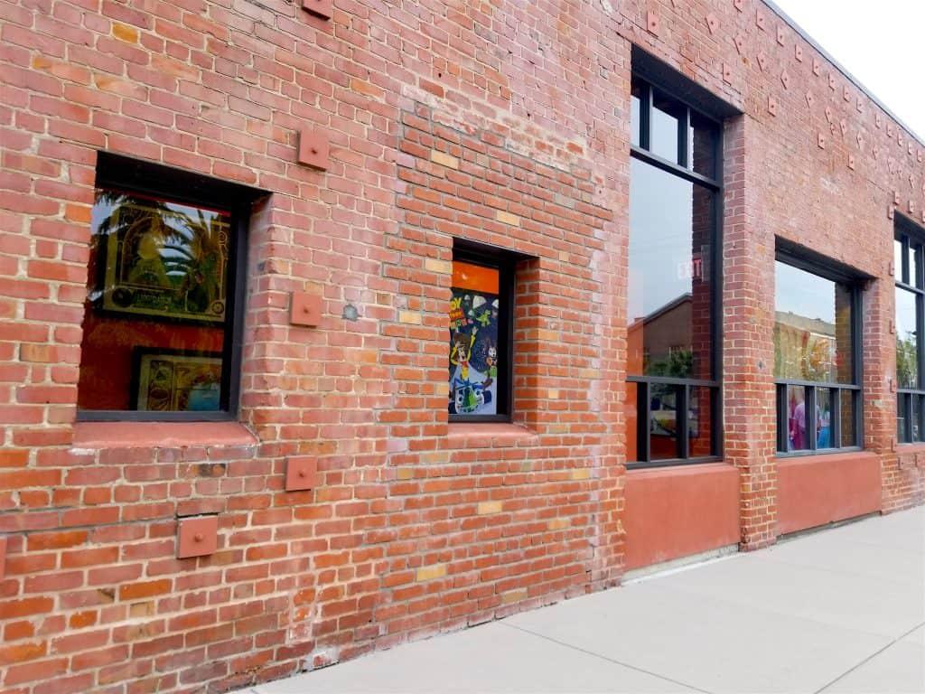 red brick building at Pixar