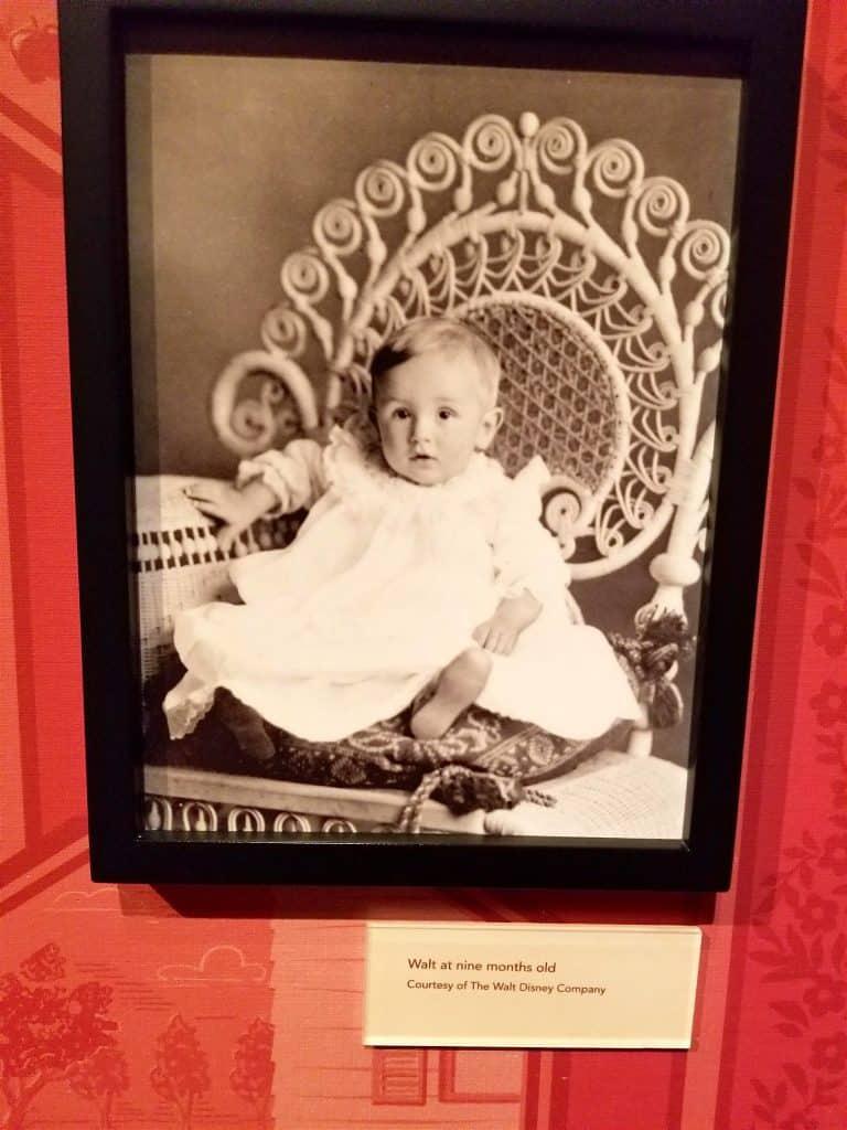 photo of Walt Disney 9 month old baby