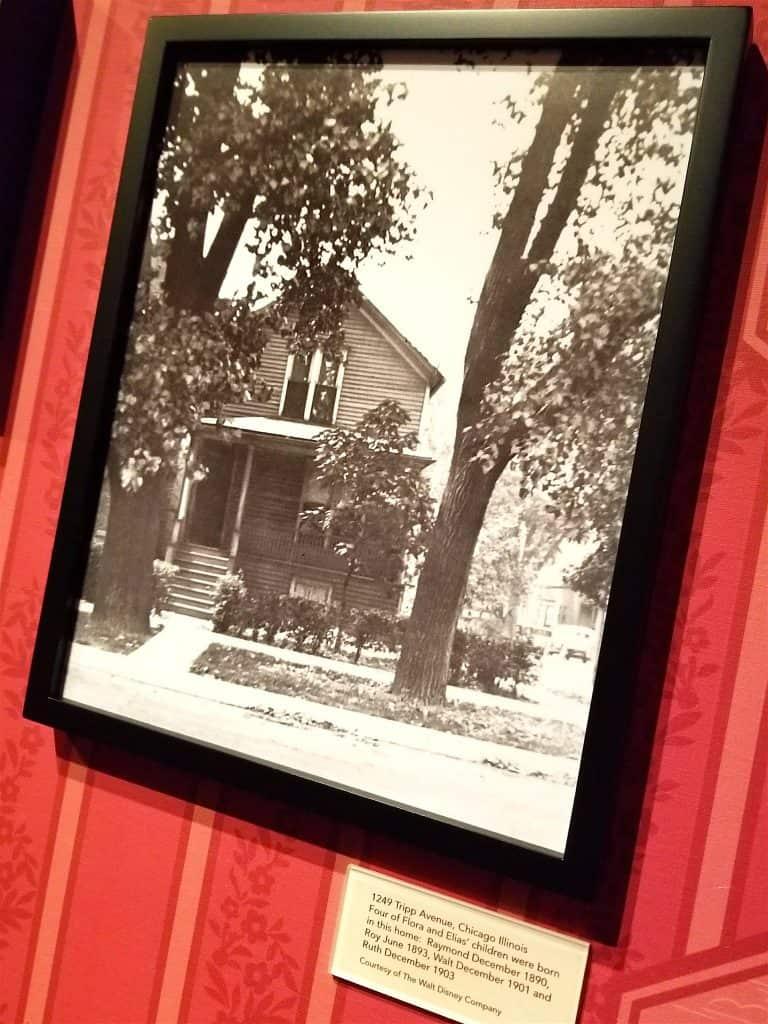 photo of Walt Disney's childhood home
