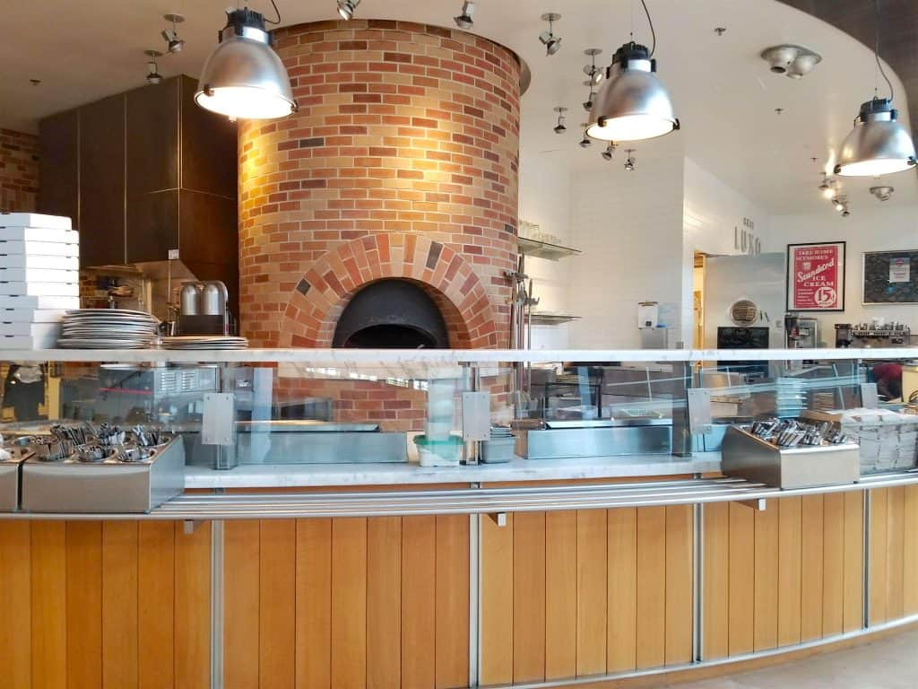 red brick fire kitchen at Pixar Studios