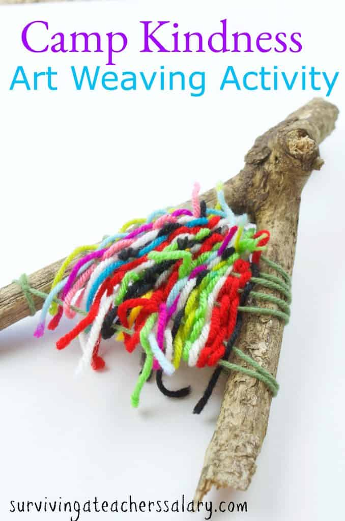 yarn and stick camping craft