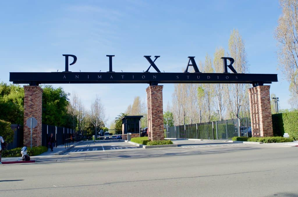 entrance to Pixar Animation Studios