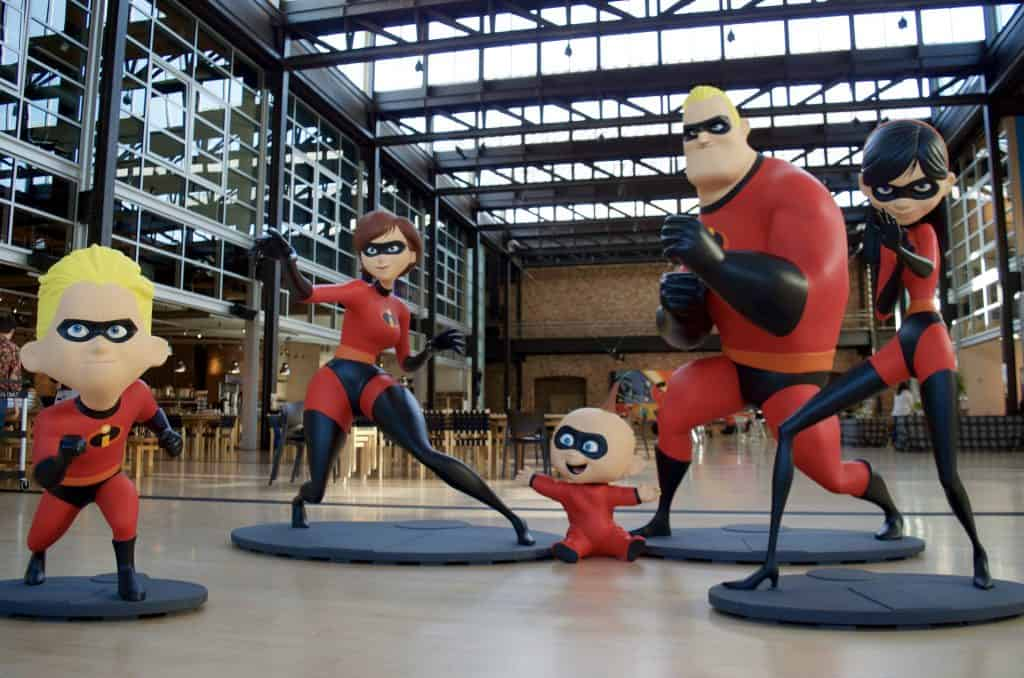 incredibles 2 family statues Pixar