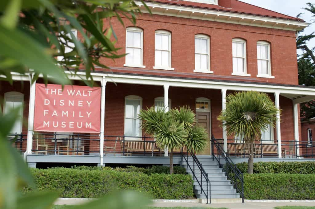 front of the Walt Disney Museum California