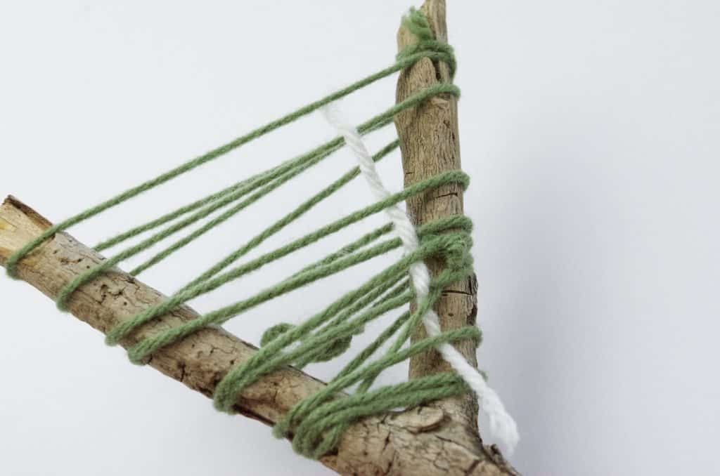 yarn and stick camping craft