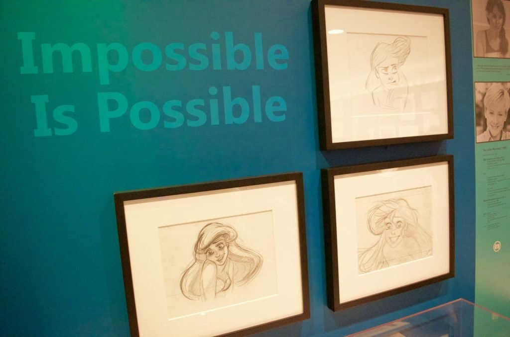 Ariel Disney hand drawn art